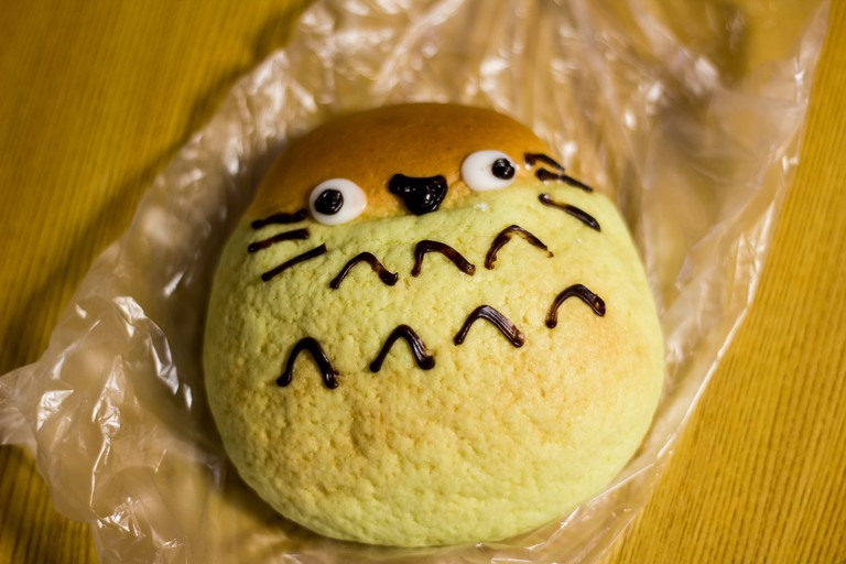 Totoro bread in Japan