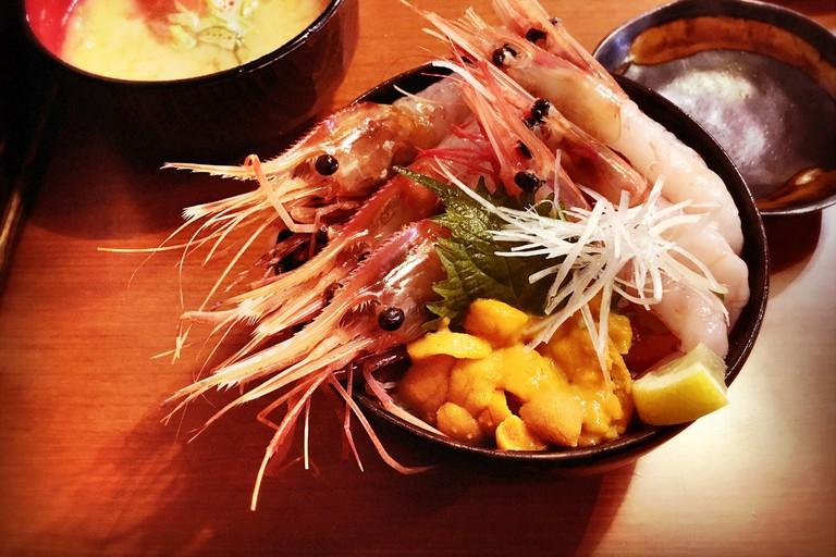 Sashimi Meal at Nijo Fish Market