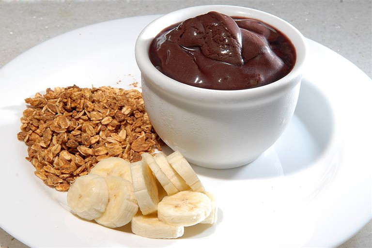 Acai with banana and granola