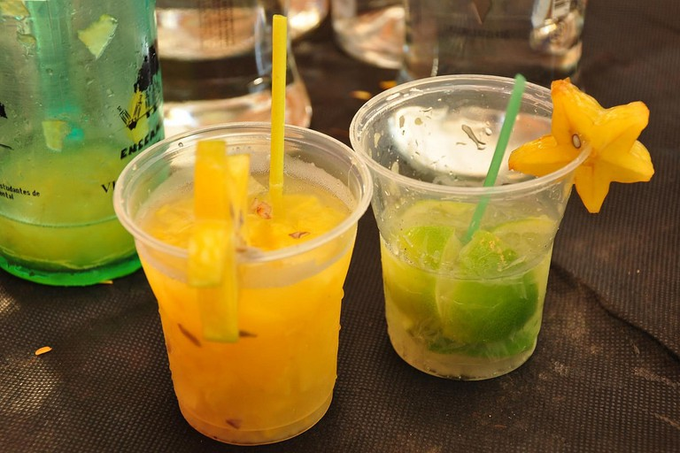 Simple caipirinhas