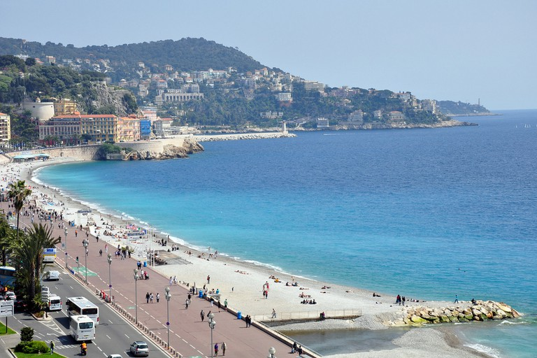 Le Meridien Hotel has amazing views over the Promenade des Anglais in Nice from its rooms and restaurants