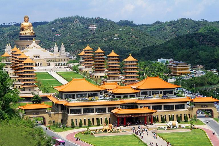 Birdseye view of Fo Guang Shan