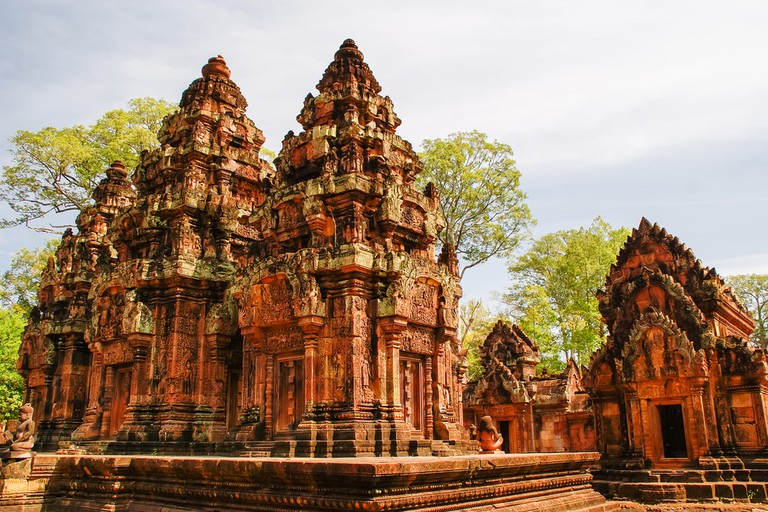 Beautiful Banteay Srei is further off the tourist trail.