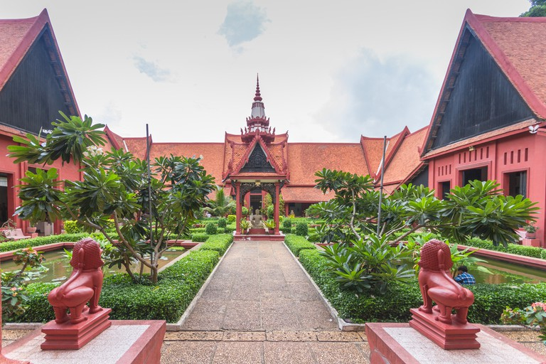 The National Museum of Cambodia boasts intricate ancient Khmer detail in its architecture