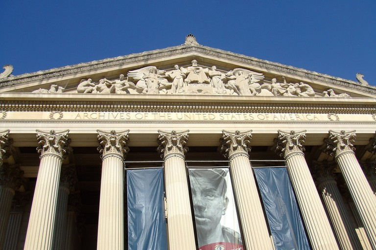 The William G. McGowan Theater is in the National Archives