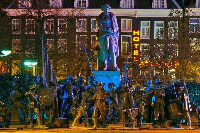 Rembrandtplein is renowned for its nightlife