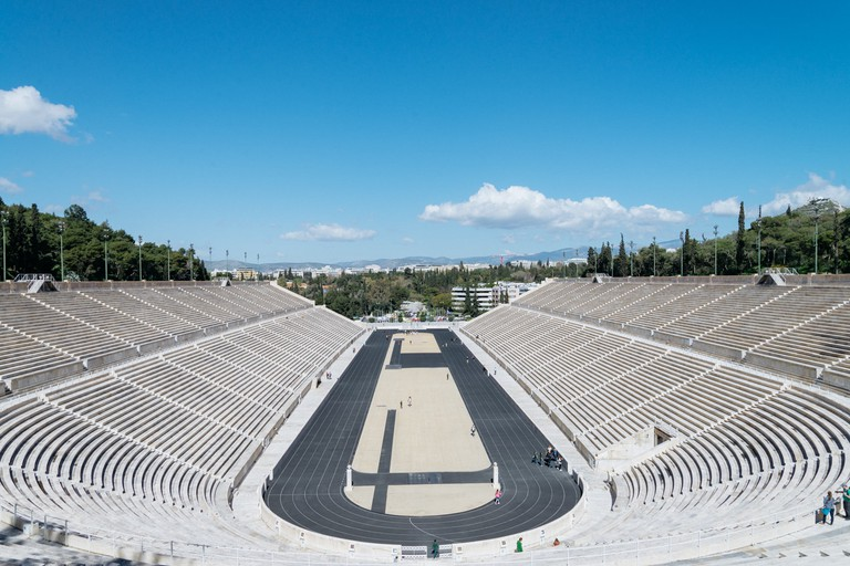 The Panathenaic Stadium hosted the first Olympiad