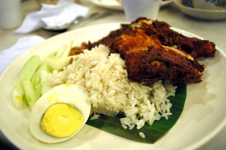 Village Park's famous Nasi Lemak with Fried Chicken