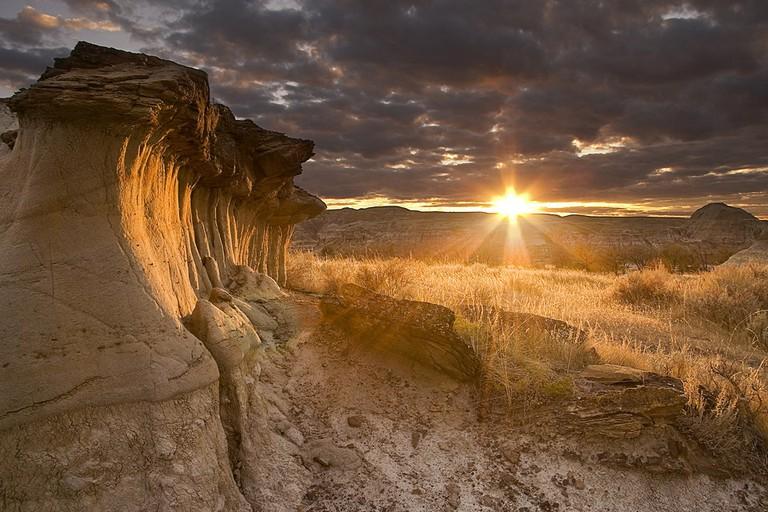 Hoodoos at Sunset in Dinosaur Provincial Park