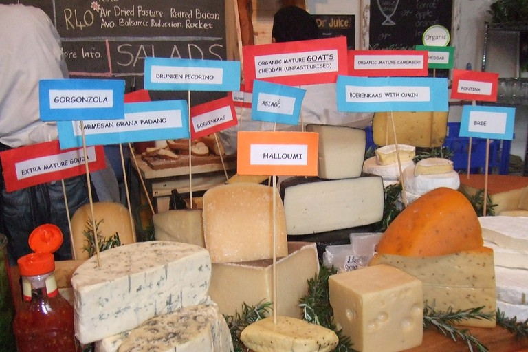 A variety of cheeses on sale at Bay Harbour Market