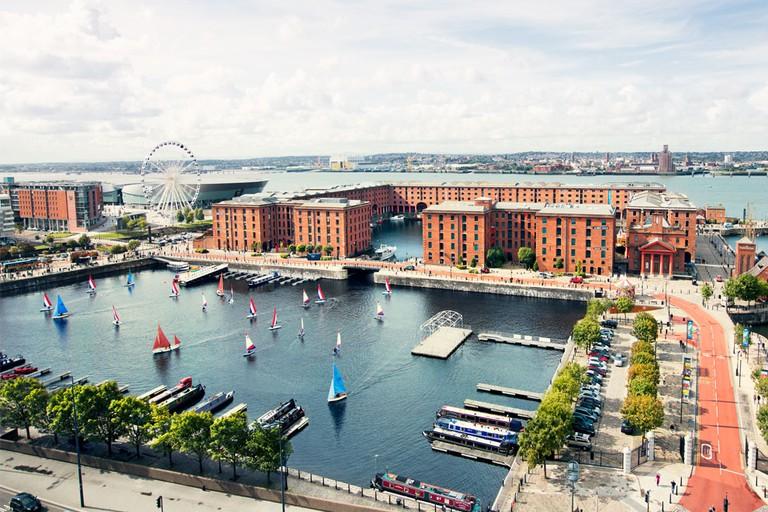 Bird's eye view of Albert Dock