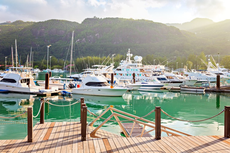 Relax and enjoy the view of Eden Island Marina from Boardwalk Bar & Grill.