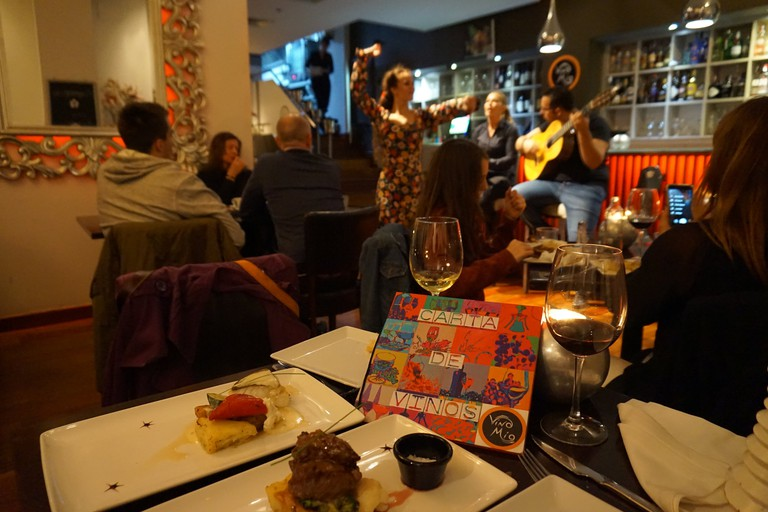 Live flamenco and excellent food at Vino Mio