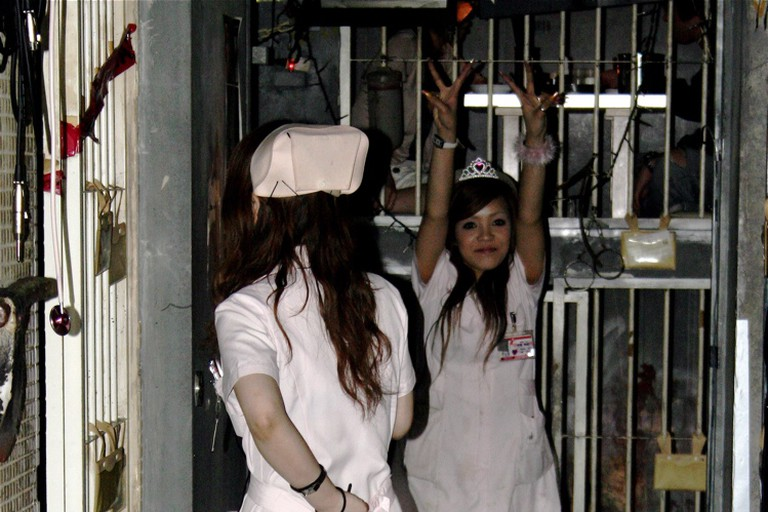 Servers dressed as nurses at Alcatraz ER