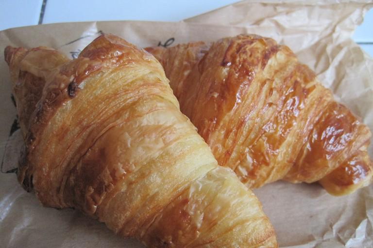 Pick up a croissant