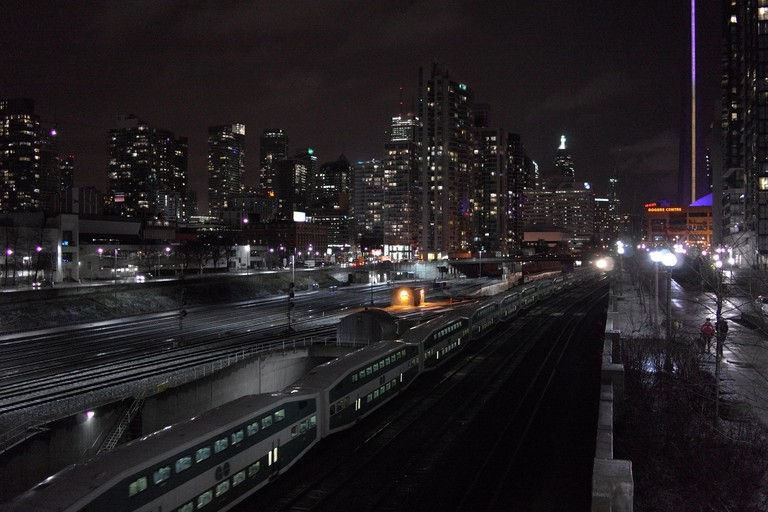 From the Bathurst Street Bridge