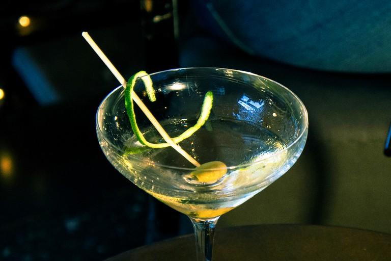Café Floréo's dry martini