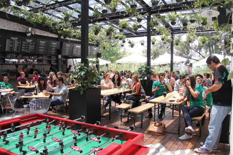 Biergarten Roma and their famous foosball tables