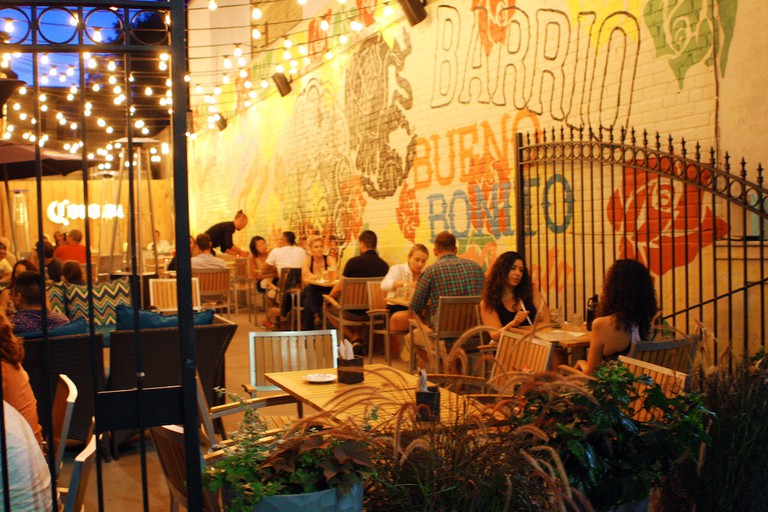 Evening patio time at the Barrio on Queen