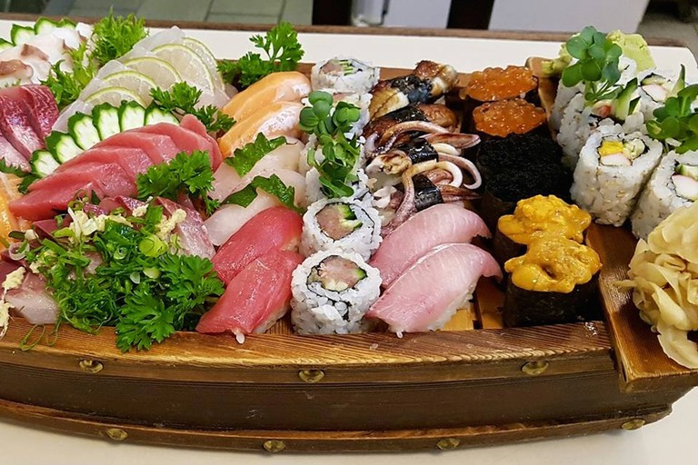 Sushi boat at Sendai Restaurant SP