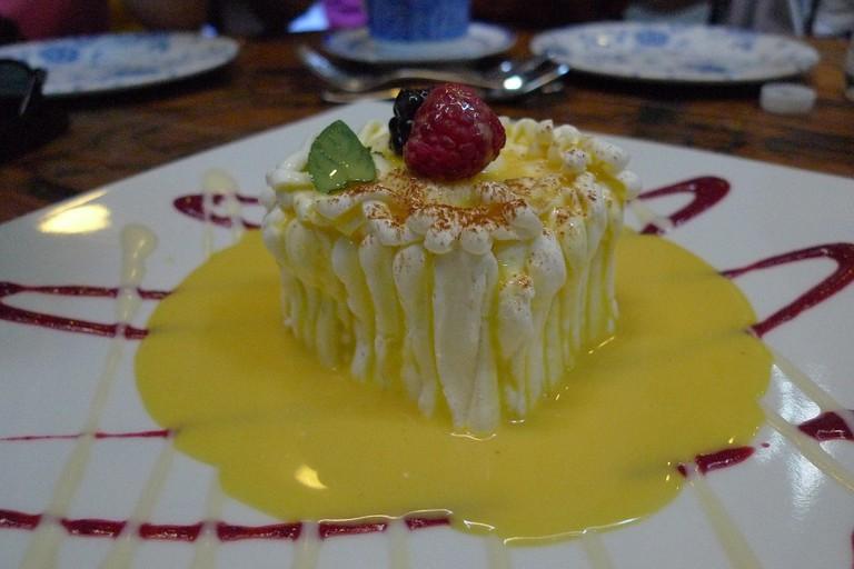 One of the desserts at Azul Histórico, Downtown México