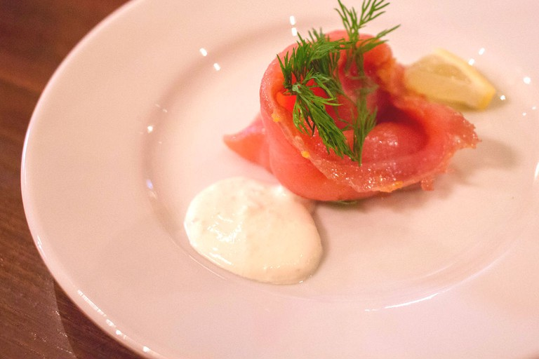 Wine Cured Smoked Salmon At Bistro Du Vin