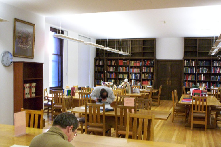 Reading room of the Blegen Library, Athens