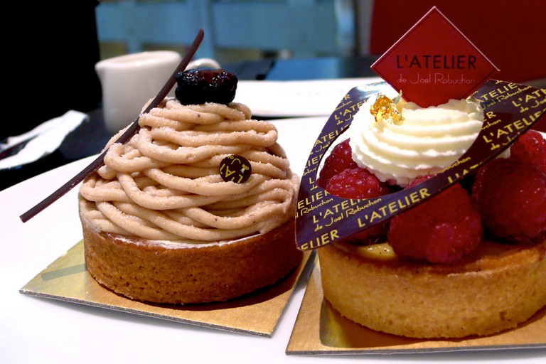 Pastries crafted at Joël Robuchon
