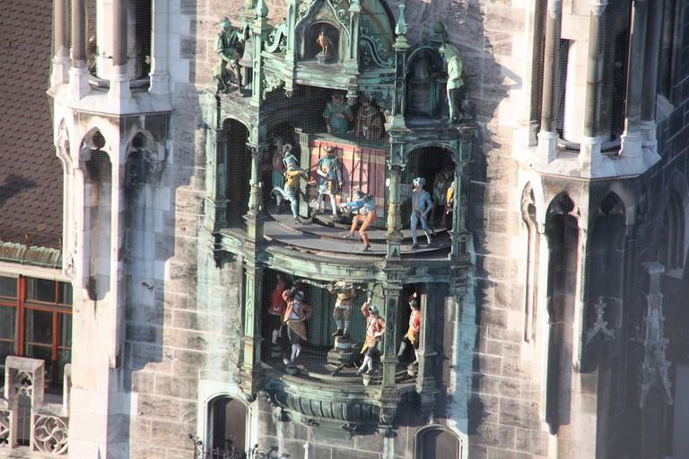 The famous Glockenspiel clock