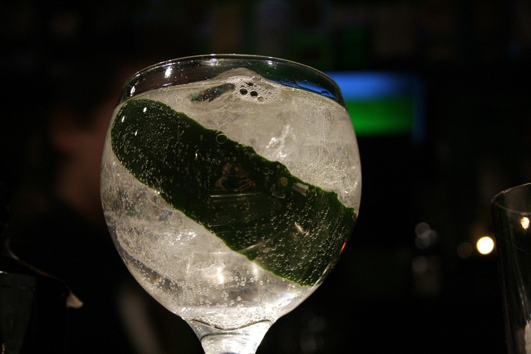 A Hendricks and cucumber G&T