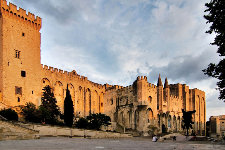 The Palais des Papes was built by several consecutive popes and towers over the entire town of Avignon
