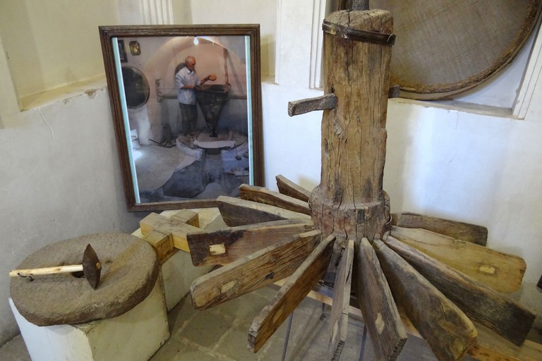Antique water mill in the Yazd Water Museum