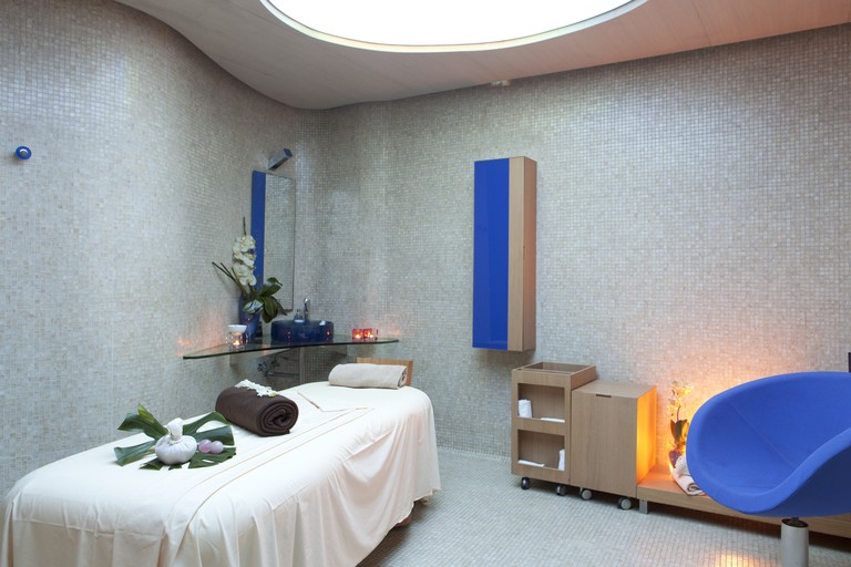 Cabins for private treatments at the Las Arenas Spa, Valencia