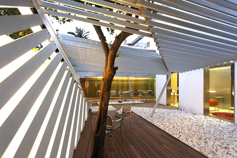 The Zen terrace at Hotel Holos