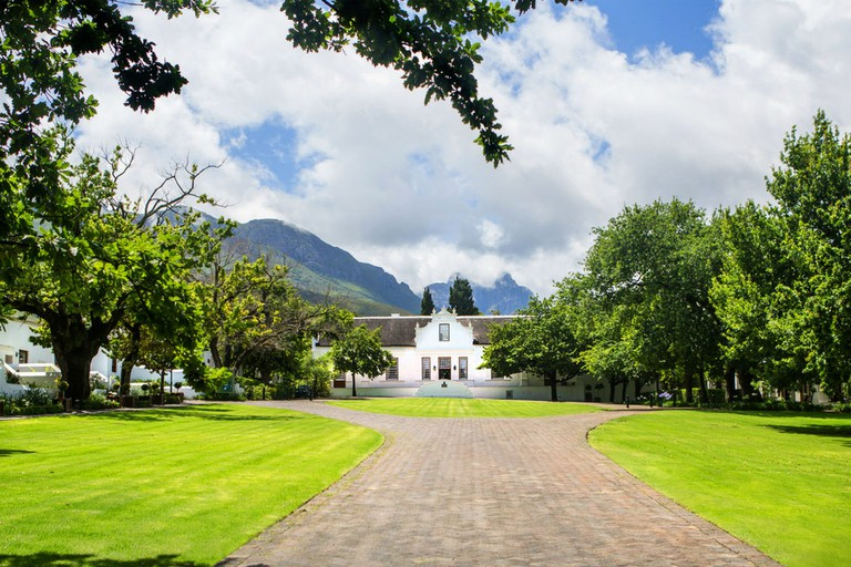 The hotel is one of the region's most distinguished examples of Cape Dutch architecture