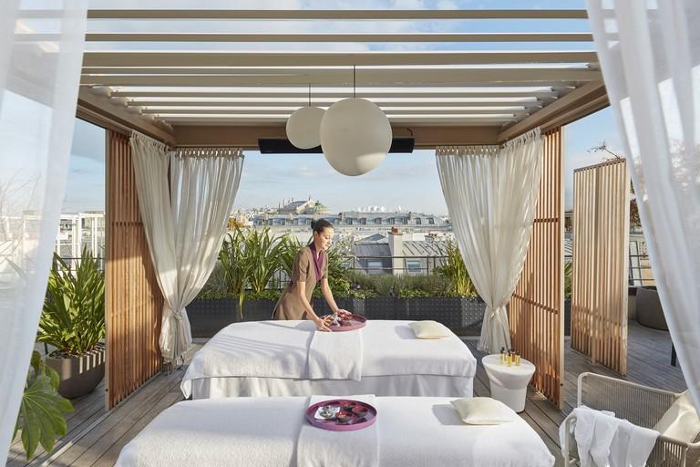 Mandarin Oriental Paris rooftop terrace