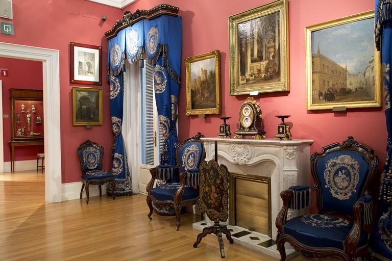 A living room at the Museo de Romanticismo