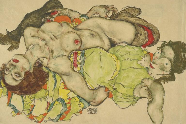 Egon Schiele Female couple, 1915 Albertina, Vienna