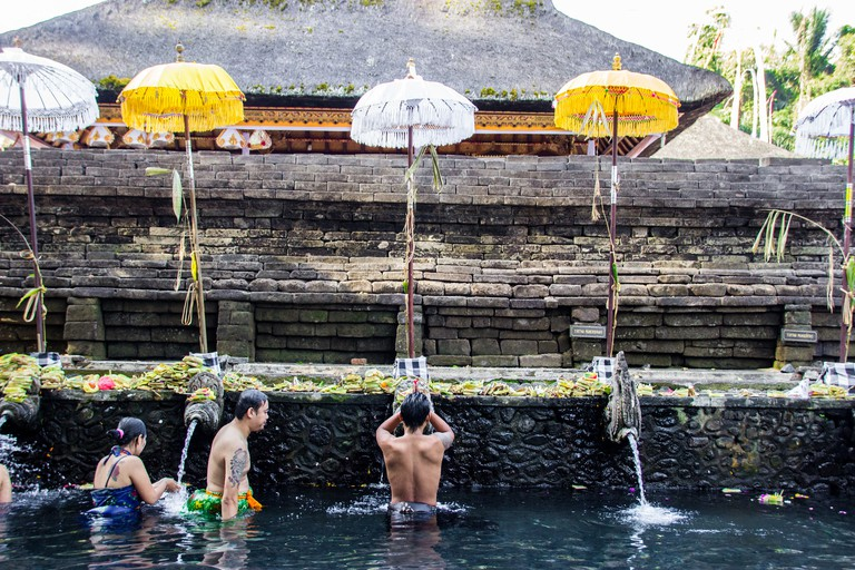 Bathing at Tirta Empul Temple