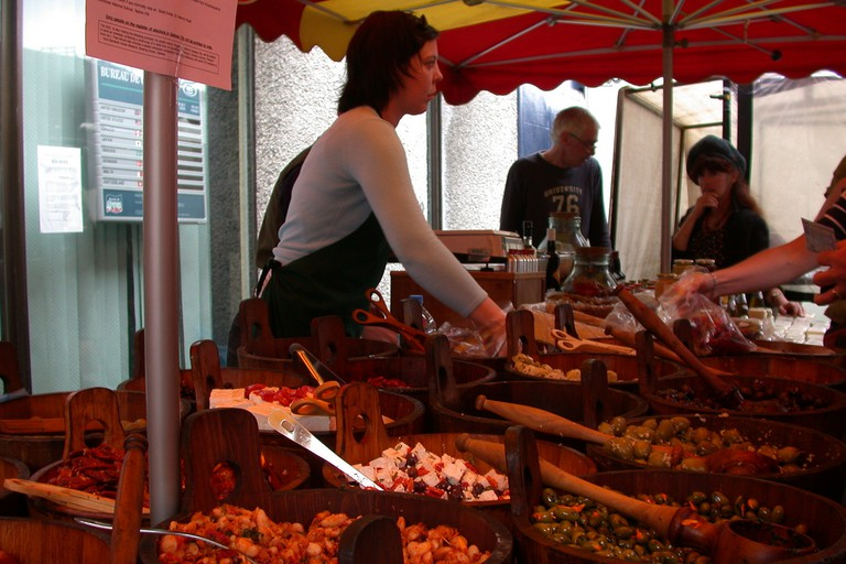 A stall at Galway Market
