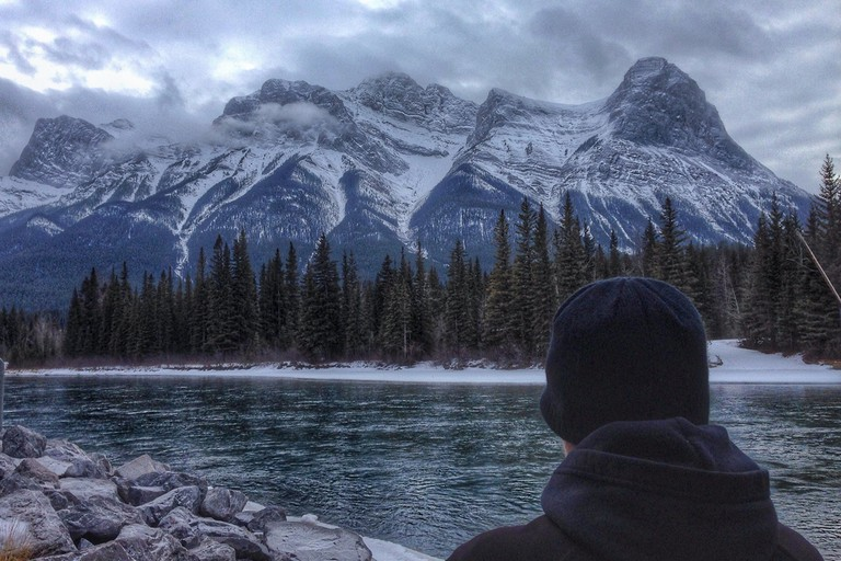 Canmore's Bow River scenery