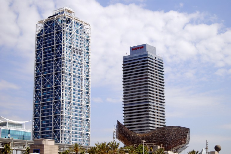 The Arts Hotel (left) in Barcelona
