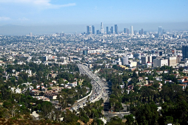The view from Mulholland Drive