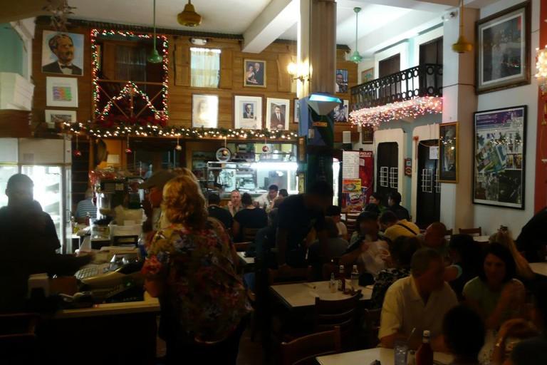 Inside El Jibarito restaurant