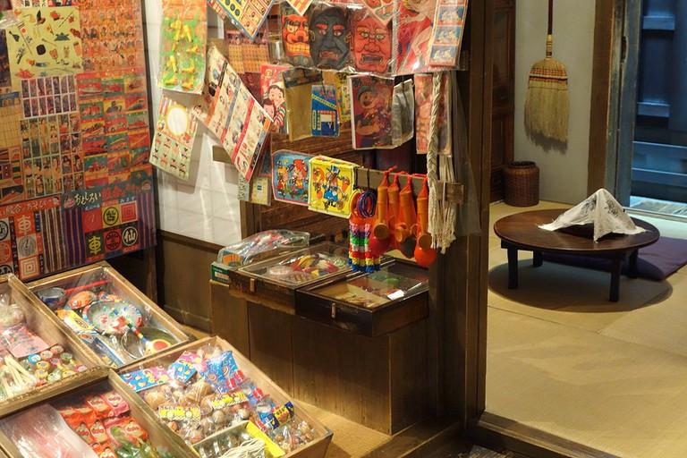 Goods for sale inside the Shitamachi Museum