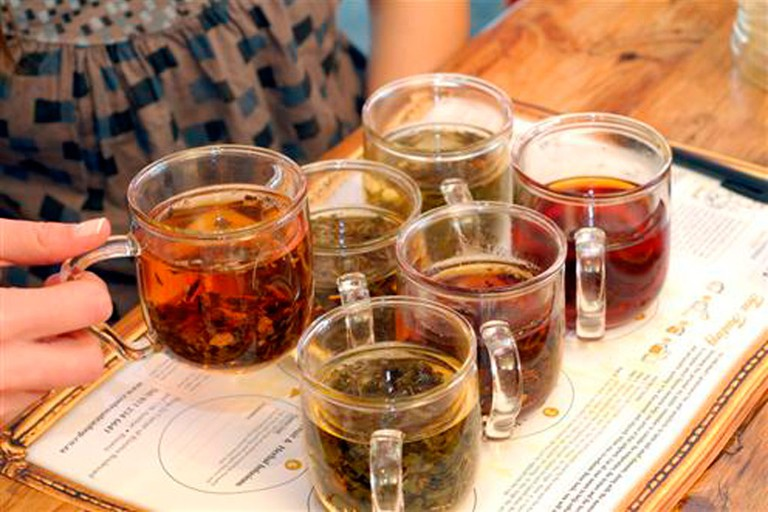 Clients can sample each of the different tea categories being, Classic Black tea, Flavoured Black tea, Oolong, Green, White and Tisane or herbal infusions