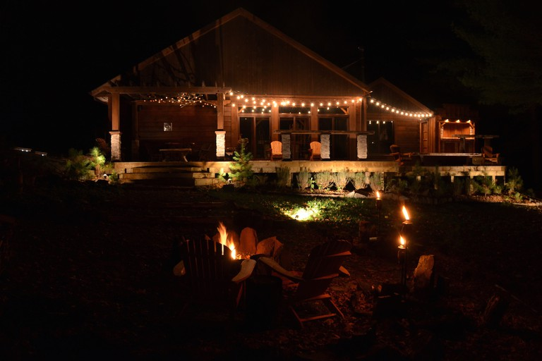 After dark at Black River Retreat