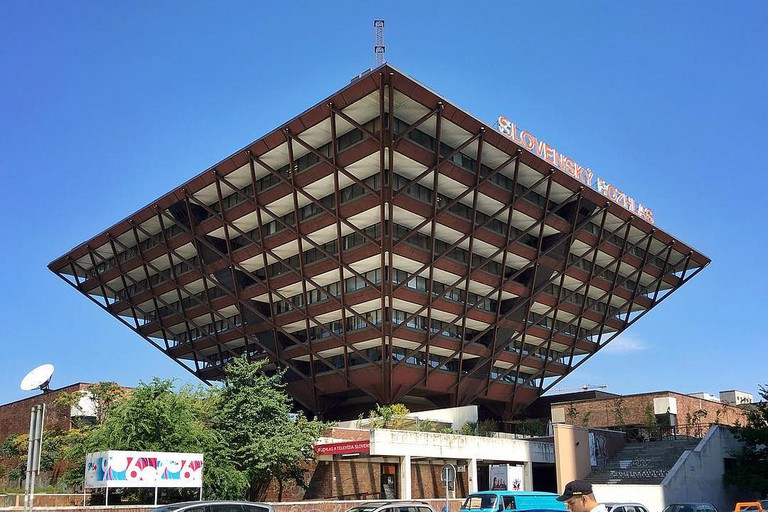 The ugly or beautiful inverted pyramid Slovak National Radio Building