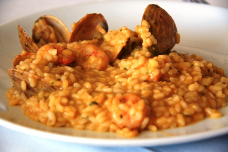 Seafood paella at La Barceloneta