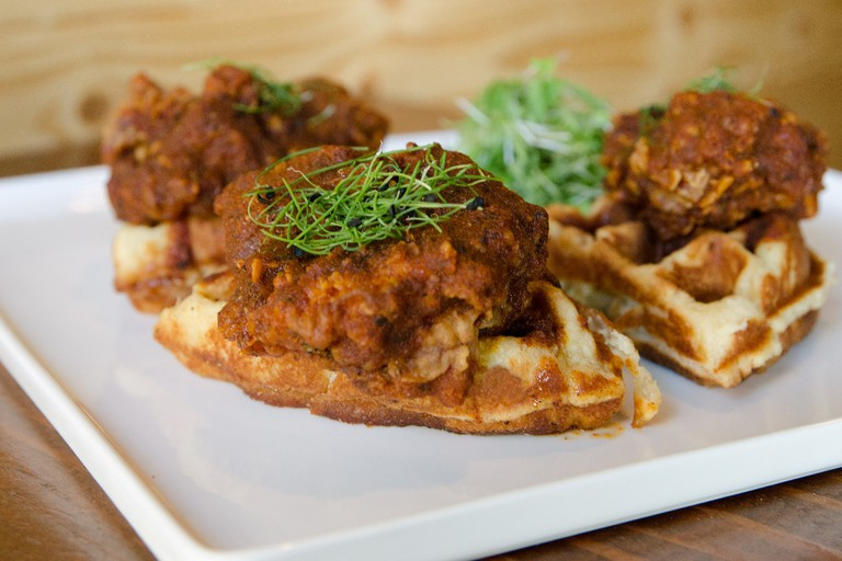 Hot Chicken and Waffles